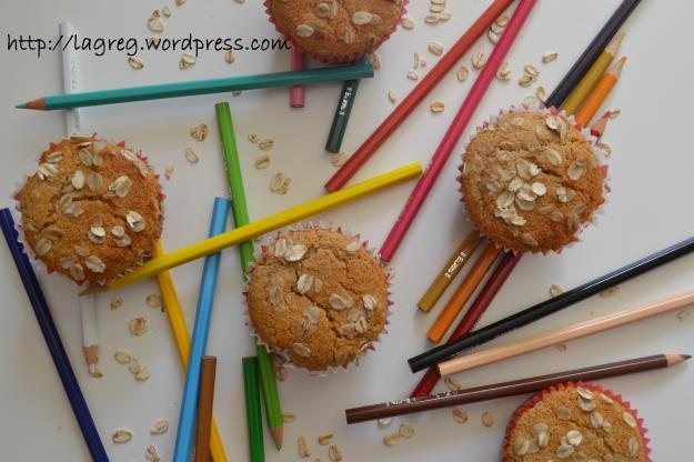Muffin integrali al miele e fiocchi d'avena (con sopresa)