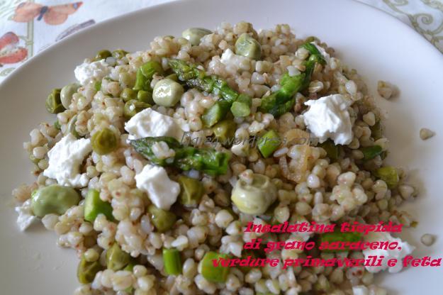 insalatina tiepida di grano saraceno, verdure primaverili e feta (9)