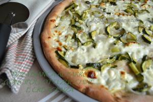 pizza bianca al farro con cipollotti zucchine e crescenza (6)