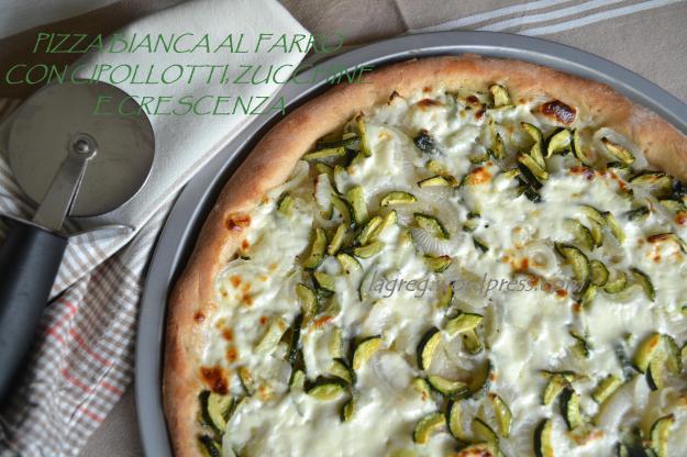 pizza bianca al farro con cipollotti zucchine e crescenza (7)