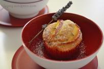 muffin nettarine e fiori di lavanda