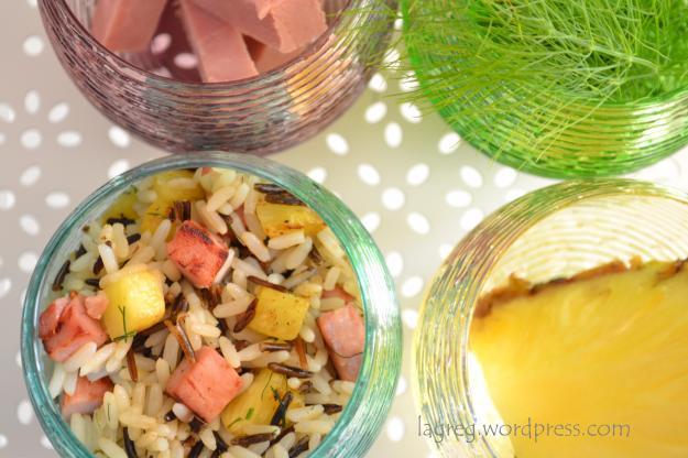 Riso long&wild con ananas e cotto grigliati al sentore di finocchietto