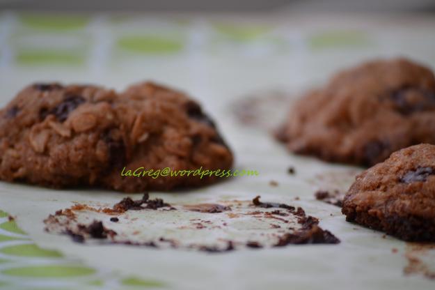Cookies al cioccolato fondente e olio d'oliva {aspettando il trasloco}