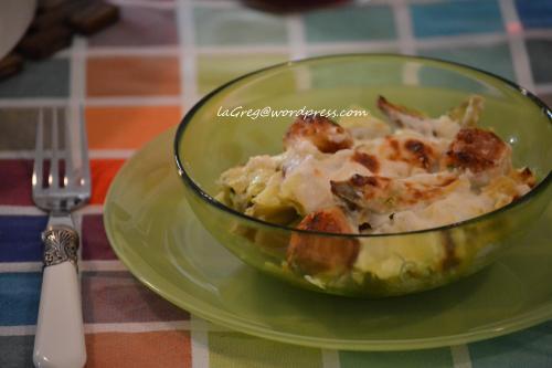 lasagne bianche carciofi e polpettine