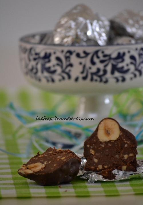 baci di nocciole e cioccolato