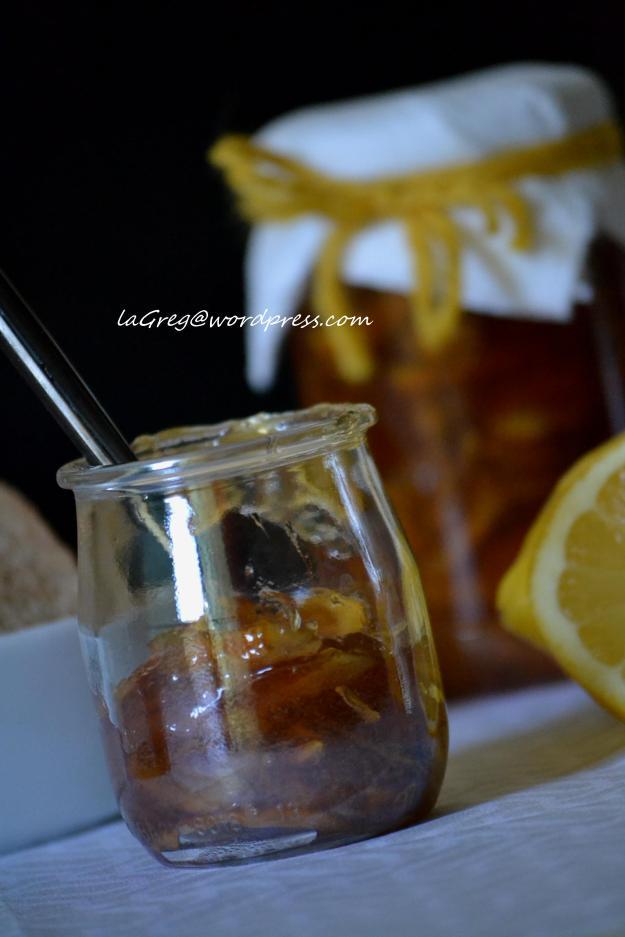 Marmellata di limoni {con miele e zucchero di canna}