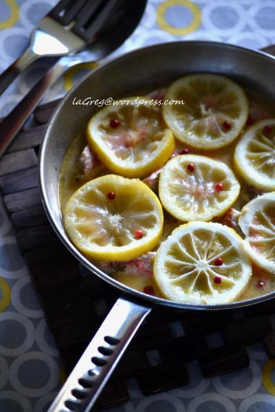triglie al limone e pepe rosa