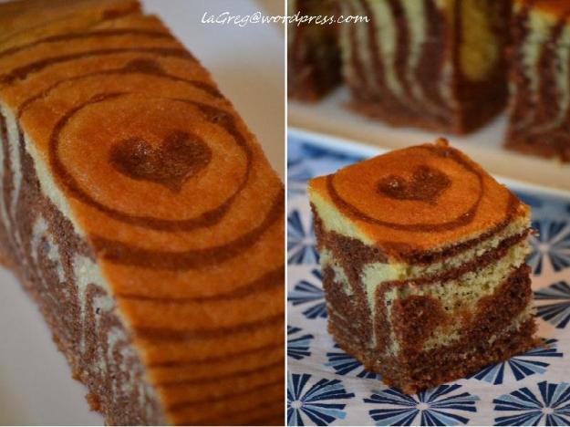 Zebra cake {alias il ciambellone variegato al cacao ed extravergine}