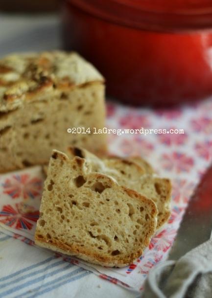 no knead bread con lievito madre 4