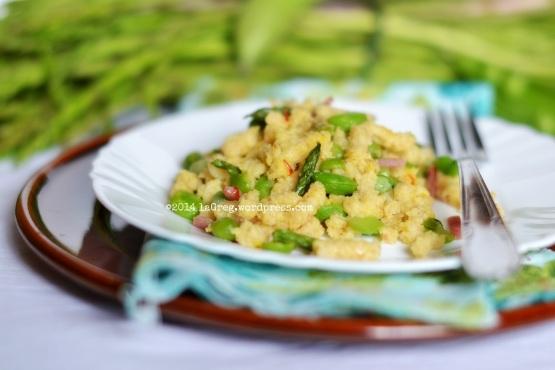 passatelli allo zafferano con prosciutto e verdurine fresche dell'orto2