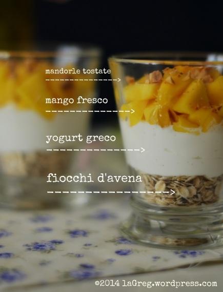 yogurt greco, mango e mandorle 1