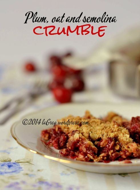 plum and oat crumble