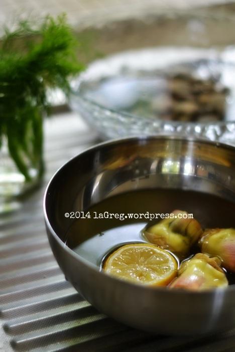zuppetta di fregola con vongole, carciofi e finocchietto 2